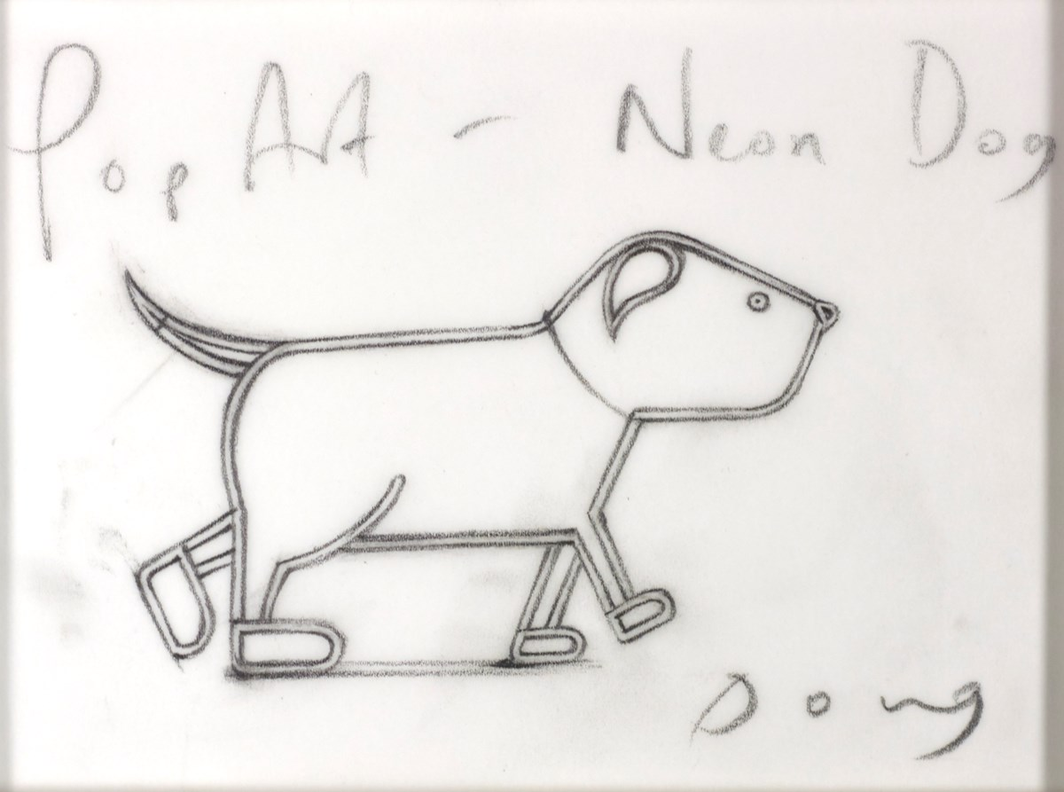 Pop Art (Study I) by doug hyde -  sized 5x4 inches. Available from Whitewall Galleries